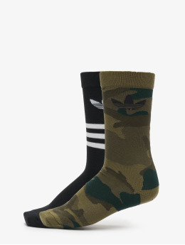 adidas Originals Ponožky 2 Pack Camo čern