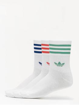 adidas Originals Ponožky Mid Cut Crew biela