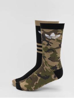 adidas originals Ponožky Camo Crew 2PP maskáèová