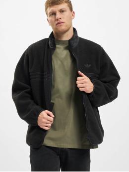 adidas Originals Prechodné vetrovky Zip Thru Fleece èierna