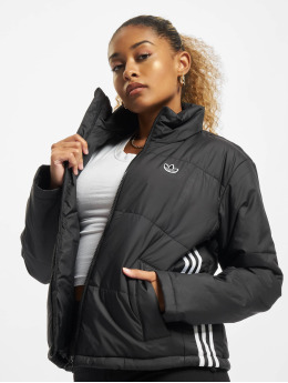 adidas Originals Prošívané bundy Short  čern