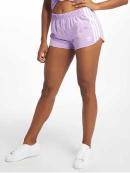 adidas originals Short 3 Stripes pourpre