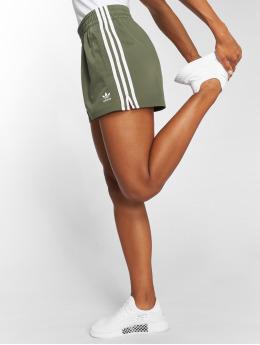 adidas originals Short 3 Stripes vert