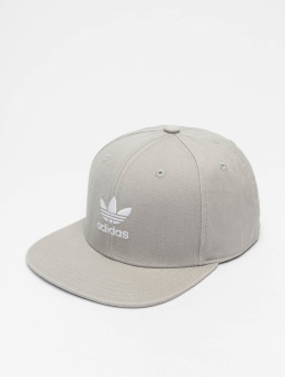 adidas originals Snapback Caps Adicolor Trefoil Flat harmaa