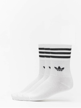 adidas Originals Socken Originals Mid Cut Solid 3 Pack weiß