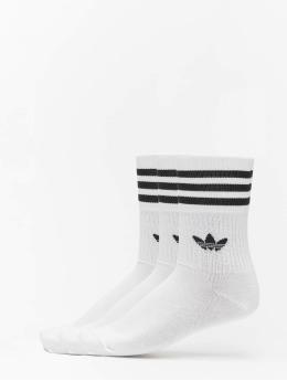adidas Originals Sokken Originals Mid Cut Solid 3 Pack wit
