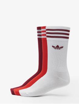 adidas Originals Sokker Solid Crew 3-Pack hvit