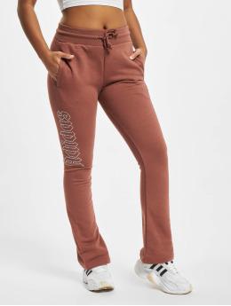 adidas Originals Spodnie do joggingu Open Hem  brazowy