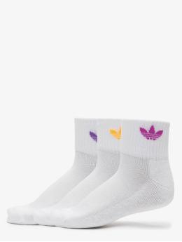 adidas Originals Sukat Mid Ankle 2-Pack valkoinen