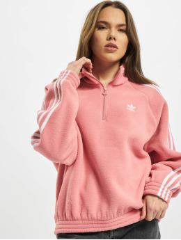 adidas Originals Svetry Originals Fleece Half Zip  růžový