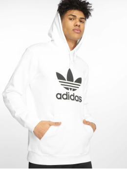 adidas originals Sweat capuche Trefoil blanc