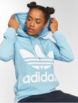 adidas originals Sweat capuche Trefoil bleu