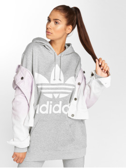 adidas originals Sweat capuche BF Trefoil gris