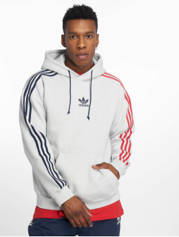 adidas originals Sweat capuche 3 Stripe gris