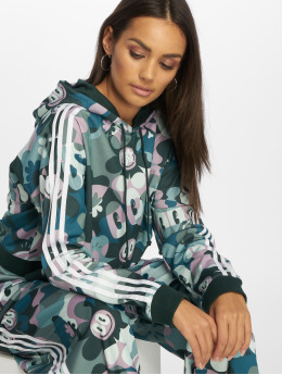 adidas originals Sweat capuche Cropped multicolore