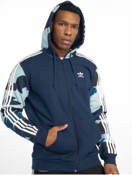 adidas originals Sweat capuche zippé Camo Full bleu