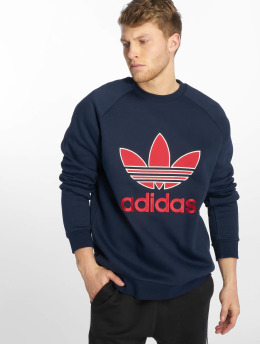adidas originals Swetry Trefoil niebieski