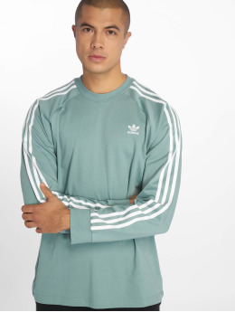 adidas originals Swetry 3-Stripes turkusowy