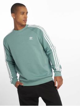 adidas originals Swetry 3-Stripes turkusowy