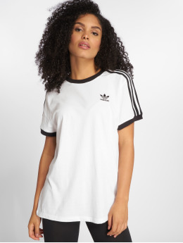 adidas originals T-Shirt 3 Stripes blanc