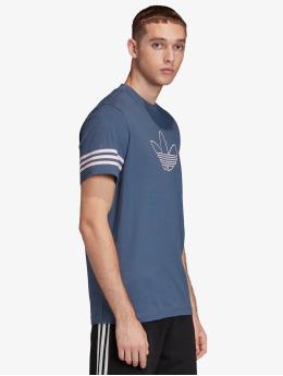 adidas Originals T-Shirt Outline blau