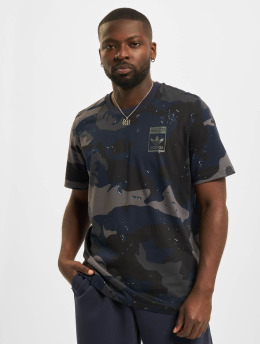 adidas Originals T-Shirt Camo AOP blau