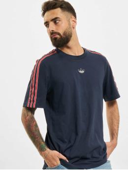 adidas Originals T-Shirt 3 Stripe blau