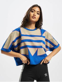 adidas Originals t-shirt Big Trefoil blauw