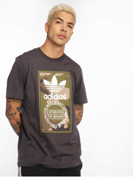 adidas originals T-Shirt Camo grau