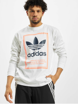 adidas Originals T-Shirt manches longues Tongue Label  blanc
