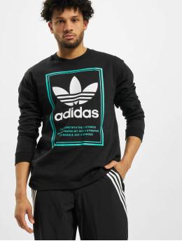 adidas Originals T-Shirt manches longues Tongue Label  noir