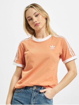 adidas Originals t-shirt 3 Stripes oranje