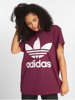 adidas originals t-shirt Big Trefoil paars