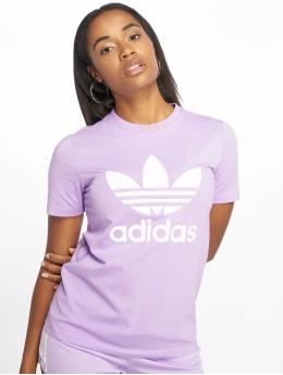 adidas originals t-shirt Trefoil paars