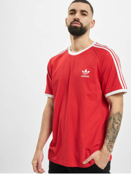 adidas Originals T-Shirt 3-Stripes rouge