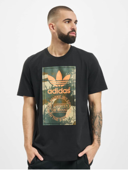 adidas Originals T-Shirt Camo Tongue schwarz