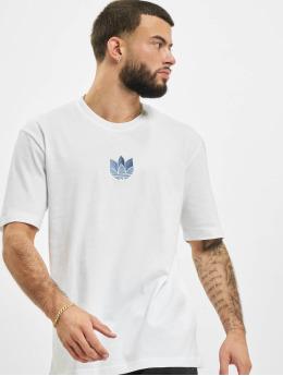 adidas Originals t-shirt 3D Trefoil  wit
