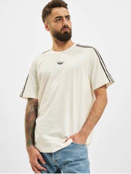 adidas Originals t-shirt 3 Stripe wit