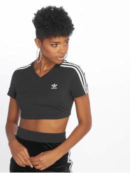 adidas originals t-shirt Cropped  zwart