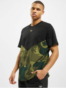 adidas Originals t-shirt Camo Block zwart