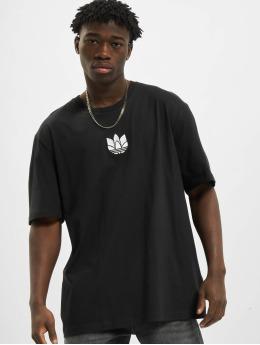 adidas Originals t-shirt 3D Trefoil zwart