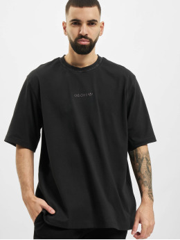 adidas Originals t-shirt Rib Detail zwart