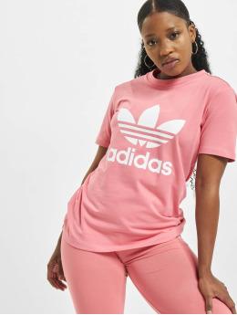 adidas Originals T-shirts Trefoil  rosa
