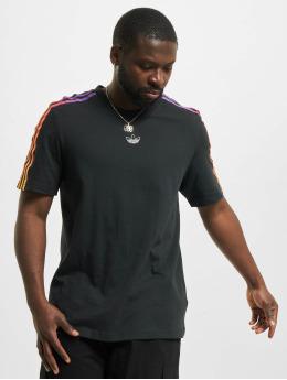 adidas Originals T-shirts Sport 3 Stripes sort