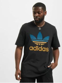 adidas Originals T-shirts Trefoil Ombre sort