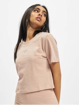 adidas Originals T-Shirty Cropped bezowy
