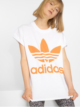 adidas originals T-Shirty Big Trefoil bialy