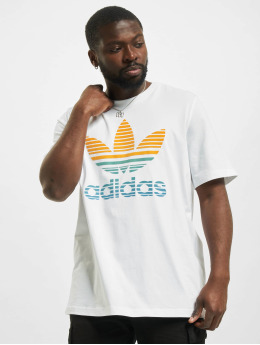 adidas Originals T-Shirty Trefoil Ombre bialy