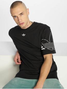 adidas originals T-Shirty Outline czarny