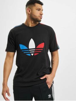 adidas Originals T-Shirty Tricolor  czarny